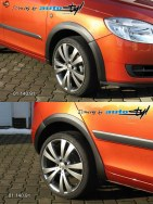 Auto tuning: Fender trims  black desen Fabia II combi