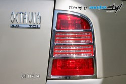 Auto tuning: Rear light cover - Octavia Combi - chrom