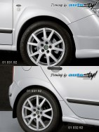 Auto tuning: Wide fender trims set + 01 032.92 - for paint
