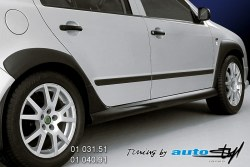 Auto tuning: Pair of side skirts - black design*